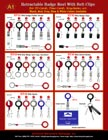 Retractable ID Holder Straps, ID Holders, ID Reels, ID Badge Clips, Key Rings, ID Badge Hooks with Belt ClipsRetractable ID Holder Straps, ID Holders, ID Reels, ID Badge Clips, Key Rings, ID Badge Hooks with Belt Clips