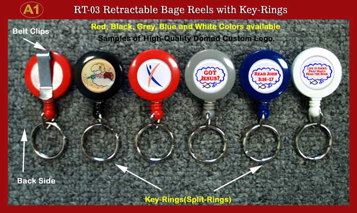 Custom Logo Retractable Key Rings