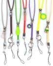 Adjustable Easy Zip lanyard with cell phone hanger, key-ring or hooks