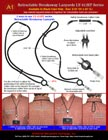 Retractable Safety Lanyards, Retractable ID Lanyards Sample Application Instructions and Guides